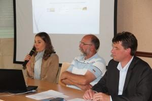 De gauche à droite : Hélène Gross, chargée de mission Biodiversité à l'ACTA, Benoît Collard, secrétaire Général de Symbiose et Hervé Lapie, président de Symbiose.