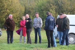 La visite de terrain a permis à chacun de partager son expérience et son point de vue sur les divers sujets abordés.