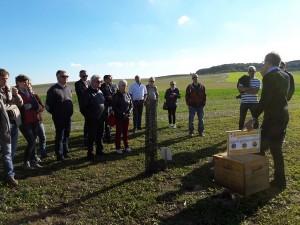 Francis Etienne, apiculture, explique le fonctionnement d'une ruche et le rôle des abeilles.